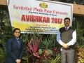 Avishkar University Level Competition - Miss Himani Mahendra with Asso. Prof. Dr. Rajesh Pandey